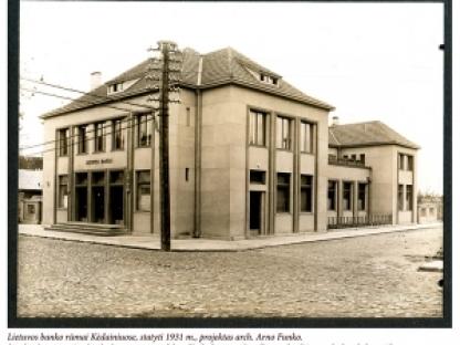 Architekto Arno Funko 1930 – 1935 m. darbų fotografijų albumas