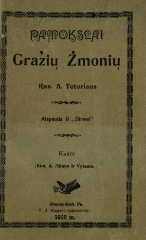 Rašytojo, švietėjo ir kunigo Antano Tatarės didaktiniai leidiniai