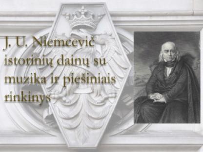 Julian Ursyn Niemcevič istorinių dainų su muzika ir piešiniais rinkinys