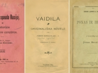 Nepriklausomybės Akto signatarų leidinius prisimenant: Jonas Vileišis